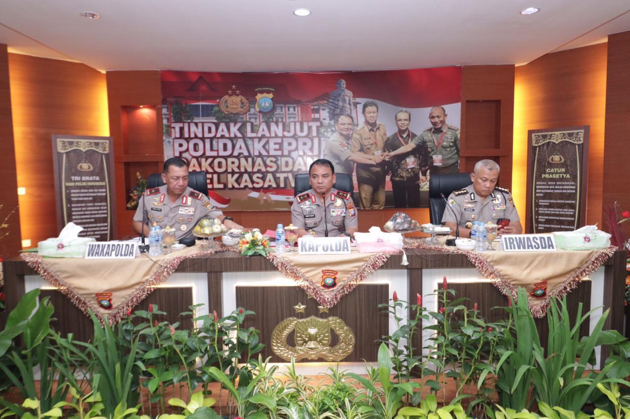 Photo of Kapolda Kepri Pimpin Rapat Tindak Lanjut Rakornas Indonesia Maju Dan Apel Kasatwil 2019