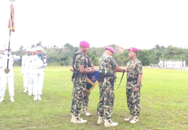 Photo of Komandan Infanteri IV Marinir Pimpin Sertijab Komandan Yonif Infanteri X Marinir Satria Bhumi Yudha, Setokok, Pulau Batam.
