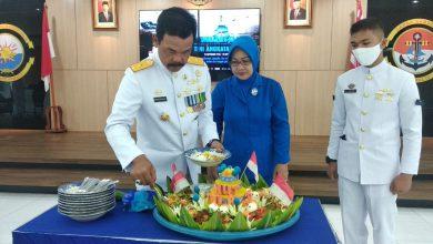 Photo of Danlantamal IV Tanjungpinang Ikuti Upacara HUT Ke-75 TNI AL Melalui Virtual
