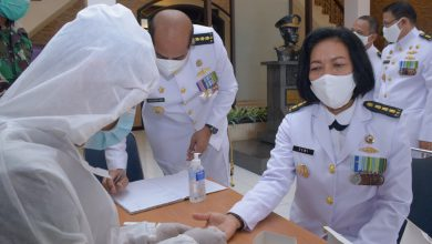 Photo of HUT TNI AL KE-75 Segenap Prajurit Dan PNS TNI AL Se- Pulau Bintan Jalani Rapid Tes