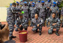 Photo of POM LANTAMAL IV Tanjungpinang, Gelar Tradisi Kenaikan Pangkat Prajuritnya